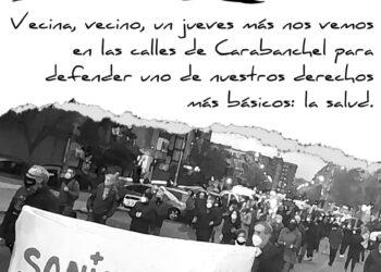 Carabanchel vuelve a manifestarse en defensa de la sanidad pública: jueves 4 de febrero
