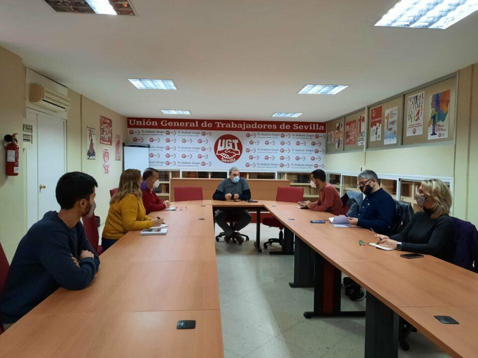 """IU y UGT mantienen un encuentro para """"coordinar acciones en defensa de los trabajadores y trabajadoras de Sevilla"""""""