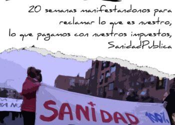 Nueva manifestación desde el Centro de Salud Abrantes (Madrid)