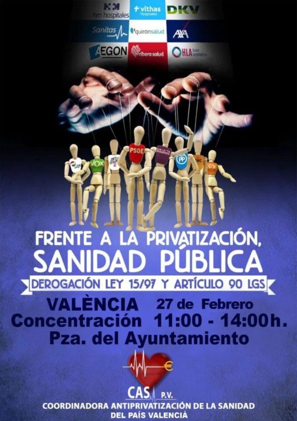 CGT apoya la convocatoria en defensa de la sanidad pública convocada por la CAS este sábado 27 de febrero