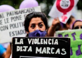 Argentinas se manifiestan en contra de la violencia machista