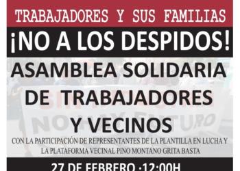 Barrios Hartos: acto de apoyo a los trabajadores de Aernnova, en huelga durante 80 días