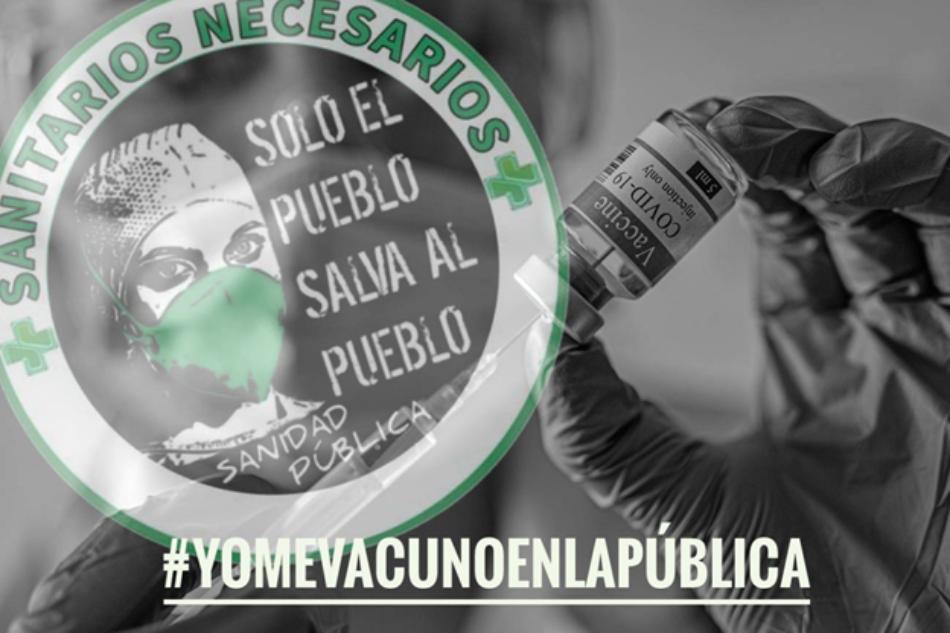 Sanitarixs Necesarixs se encierran en la Gerencia de Atención Primaria del Servicio Madrileño de Salud