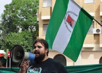 """Oscar Reina (portavoz del SAT): """"Por mucho que las personas de Andalucía queramos trabajo, libertad y dignidad, esas serán imposibles sin soberanía"""""""