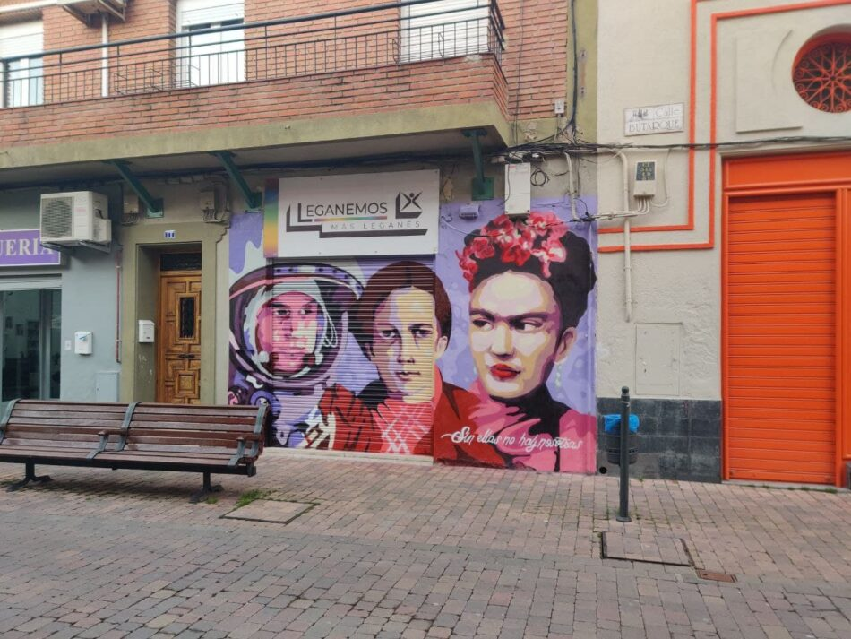 El mural feminista se multiplica también en Leganés
