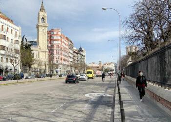 Asociaciones vecinales y de peatones y ciclistas piden la apertura de itinerarios peatonales y de bicicletas en los grandes parques cerrados por el temporal Filomena