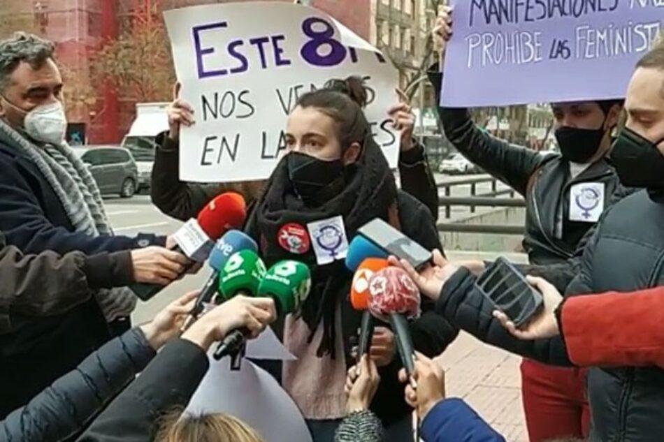 «El Delegado del Gobierno en Madrid prohíbe antidemocráticamente las concentraciones del 8M ¡Totalitarismo no, feminismo sí!»