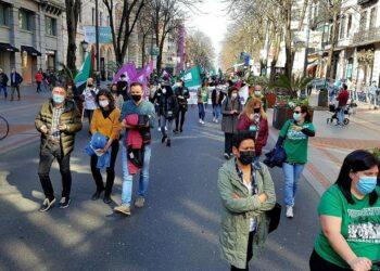 Clamor por un sistema público de cuidados en la tercera jornada de huelga convocada por ELA en Hego Euskal Herria