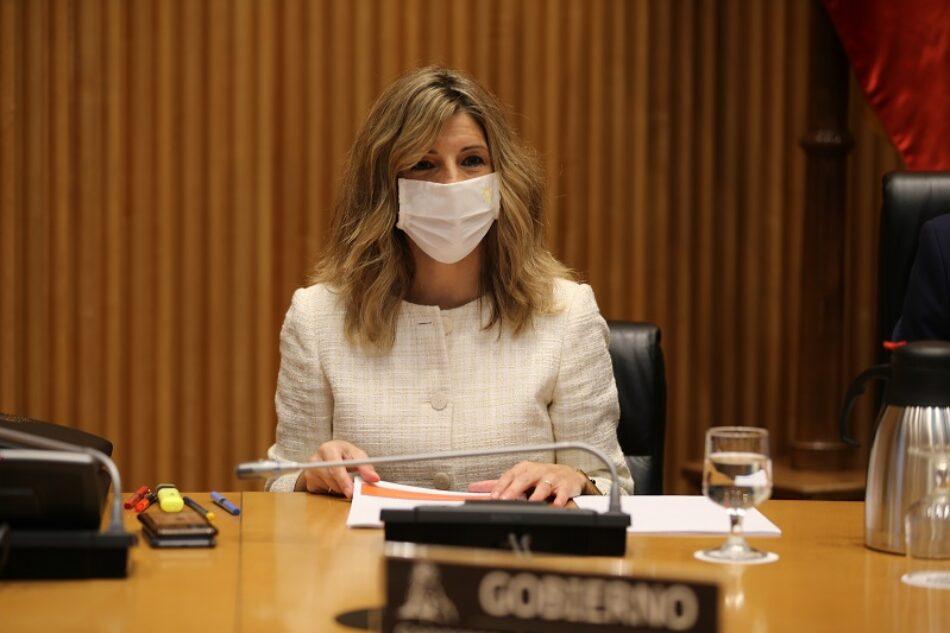 """Yolanda Díaz: """"Me propongo abordar la asignatura pendiente de la democracia en España: el trabajo decente"""""""