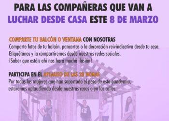 «Balcones violetas el 8M y siempre»