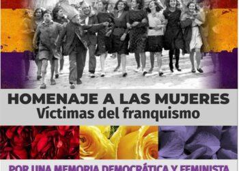 Homenaje a las mujeres asesinadas por el franquismo en el Cementerio del Este