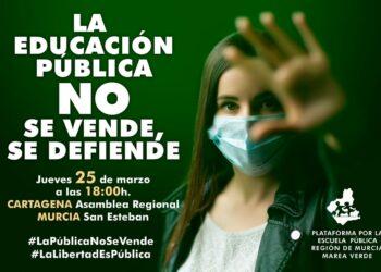 STERM se moviliza esta tarde, junto a la Marea Verde, para defender la escuela pública