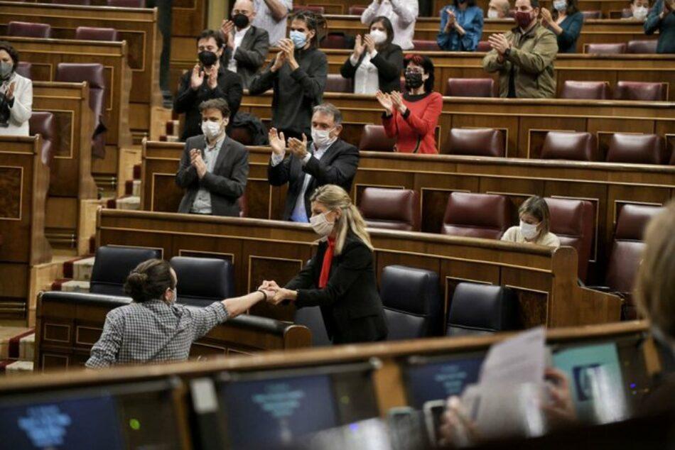 Iglesias anuncia que presentará una denuncia por delito de cohecho contra García Egea, tras el «Tamayazo» en la Región de Murcia