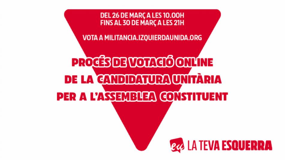 Esquerra Unida Catalunya arriba a la recta final cap a la seva Assemblea Constituent