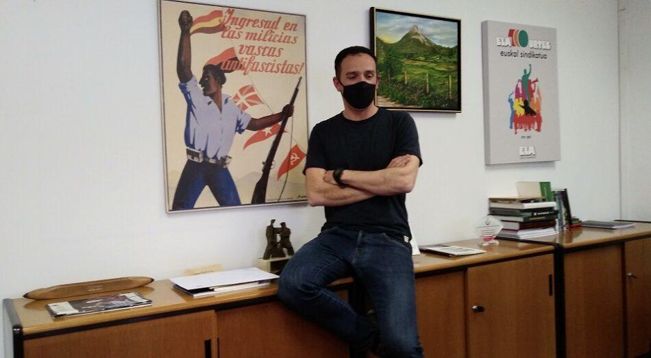 """Mitxel Lakuntza (secretario general de ELA): """"Hay que hacer una reforma laboral para impedir que la gente vaya a la calle"""""""
