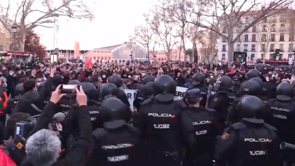 Manifestación en Madrid por la libertad de expresión ante un gran despliegue policial