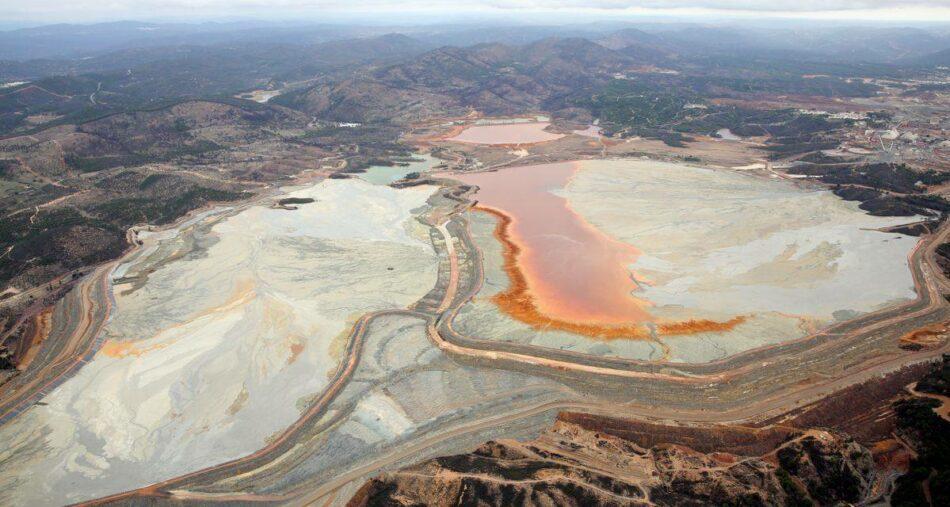 Ecologistas en Acción denuncia el riesgo de rotura de las balsas de lodos de Atalaya Riotinto Minera