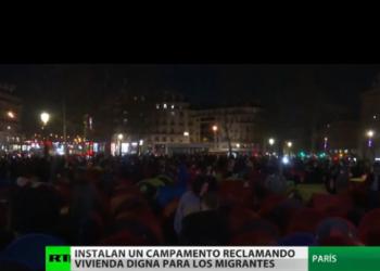 En París instalan un campamento en reclamo de vivienda digna para los migrantes