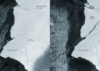 Un iceberg dos veces más grande que Madrid se desprende de la Antártida