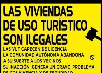 Asociaciones vecinales de Letras y Embajadores protestan contra los pisos turísticos y las fiestas ilegales