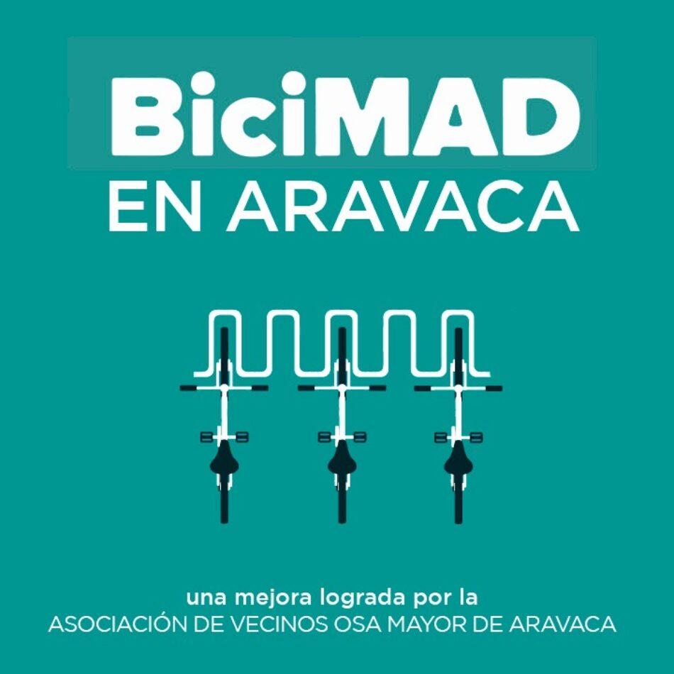 BICIMAD llegará a Aravaca gracias al empuje de la Asociación Vecinal Osa Mayor