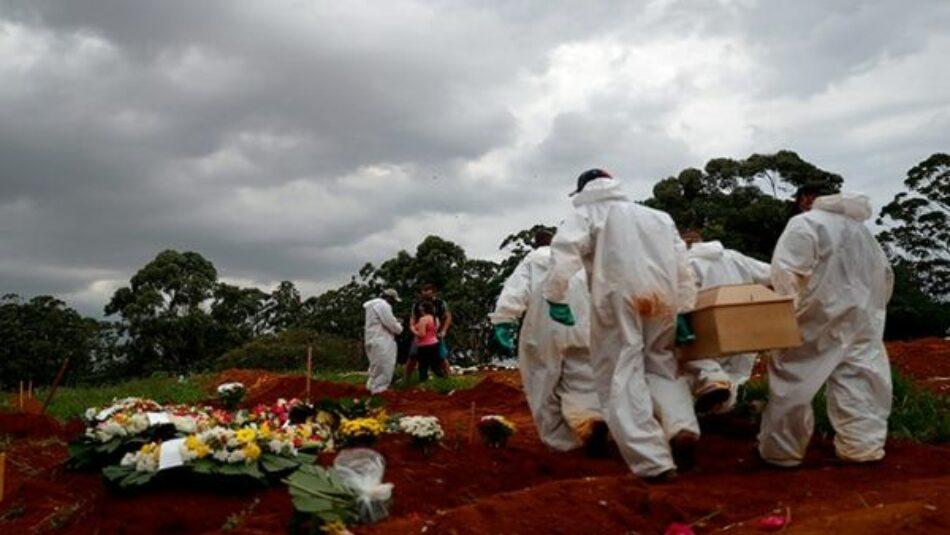 Brasil registra 1800 muertes en la última semana sumida en el colapso sanitario