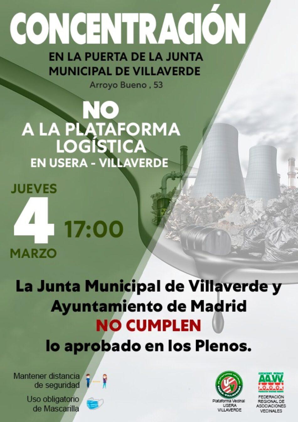 Las asociaciones vecinales llevan su protesta por la planta logística PALM-40 a la Junta de Villaverde