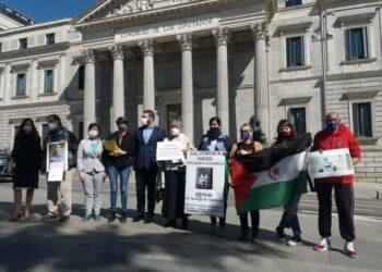 Representantes de diversas formaciones políticas muestran su preocupación por el preso saharaui Lamin Haddi