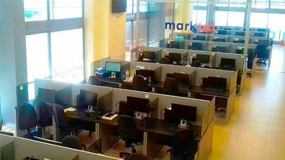 """La plantilla de Marktel va a la huelga por el teletrabajo y contra el """"dumping social"""""""