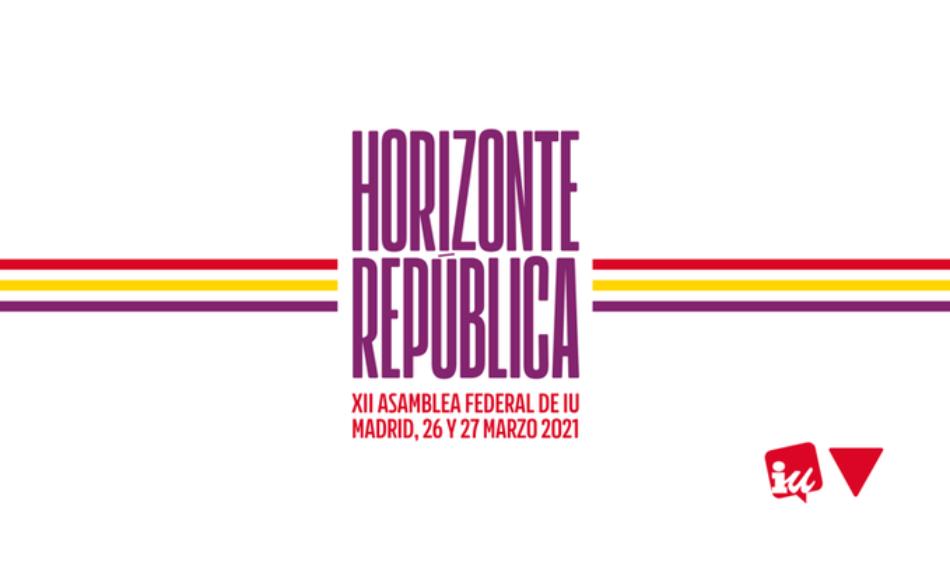 IU culmina en los dos próximos días su XII Asamblea Federal bajo el lema 'Horizonte República' y con estrictas medidas de seguridad por el Covid-19