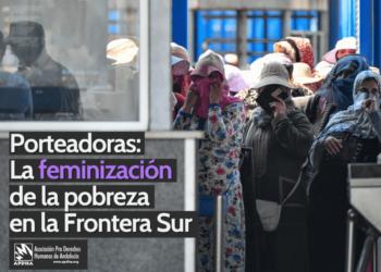 APDHA denuncia el abandono de miles de mujeres porteadoras tras el cierre del porteo