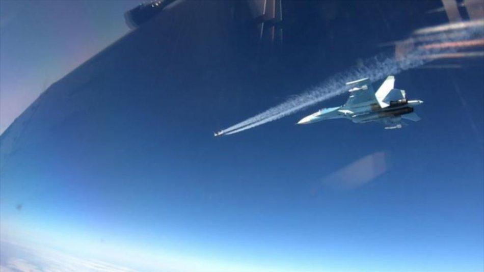 Aviones rusos chocan con cazas F-16 de OTAN en el mar Báltico