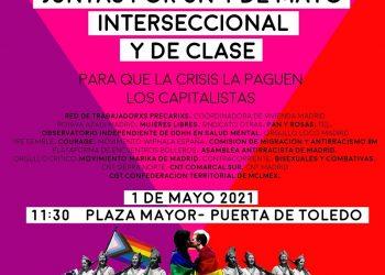 """Colectivos antirracistas, transfeministas y sindicales se unirán en una manifestación del 1 de Mayo """"interseccional"""""""