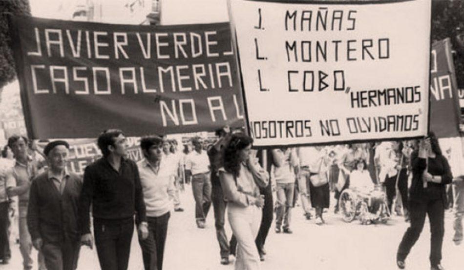 «Caso Almería: 40 años sin reconocimiento en Andalucía»