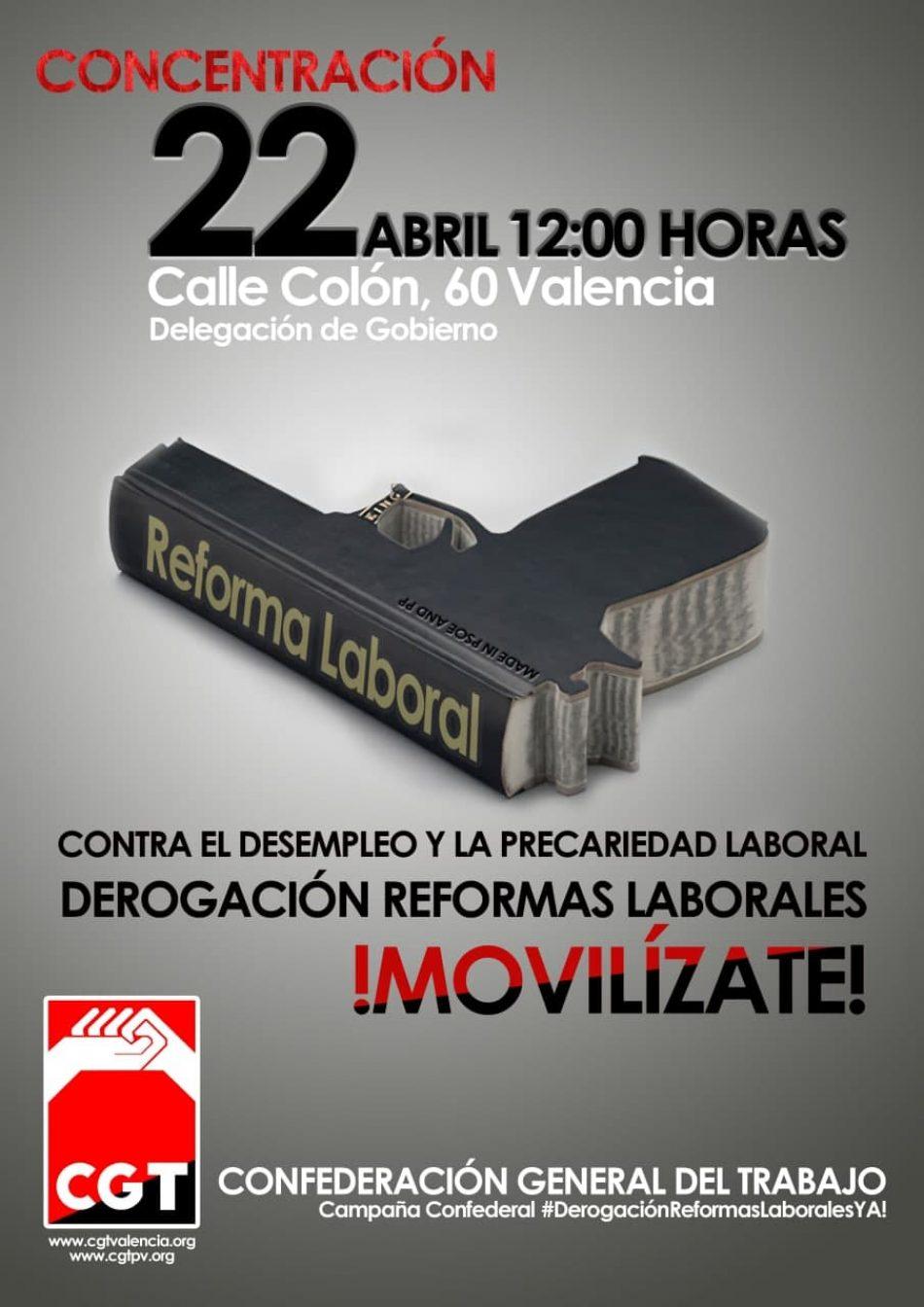 CGT convoca por la derogación de las reformas laborales