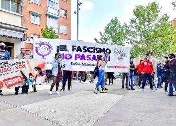 Hostigamiento y acoso policial contra los antifascistas de Carabanchel que hemos protestado contra Vox. ¡Sin la policía no sois nada!
