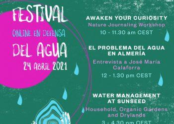 La V edición del Festival del Agua se celebrará online el próximo sábado 24 de abril debido a la Covid-19