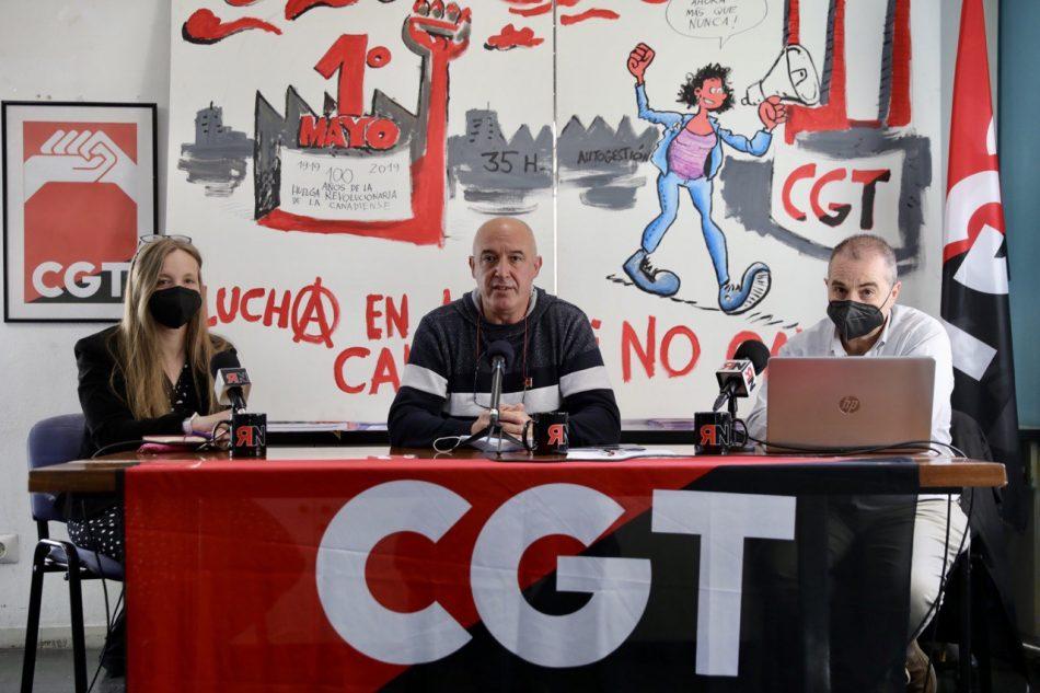CGT acusa al Ministerio de Trabajo de PSOE-UP de querer expulsarles, sin alternativas, del edificio que vienen utilizando para su actividad sindical en Madrid