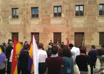Colectivos estudiantiles homenajean al Magisterio Republicano en Salamanca