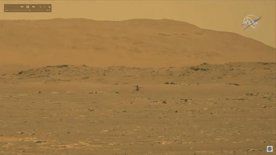 El helicóptero Ingenuity de la NASA logra el primer vuelo propulsado en otro planeta