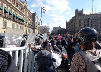 Grupos feministas y la Policía se enfrentan en México tras el asesinato de la salvadoreña Victoria Salazar