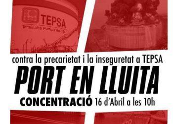La Direcció de TEPSA posa en risc el port de Barcelona i la plantilla, per la falta de seguretat