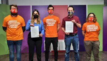Más Madrid y Unidas Podemos rubrican con el Sindicato de Inquilinas/os un compromiso que materializará una reivindicación histórica e inédita en la Comunidad de Madrid