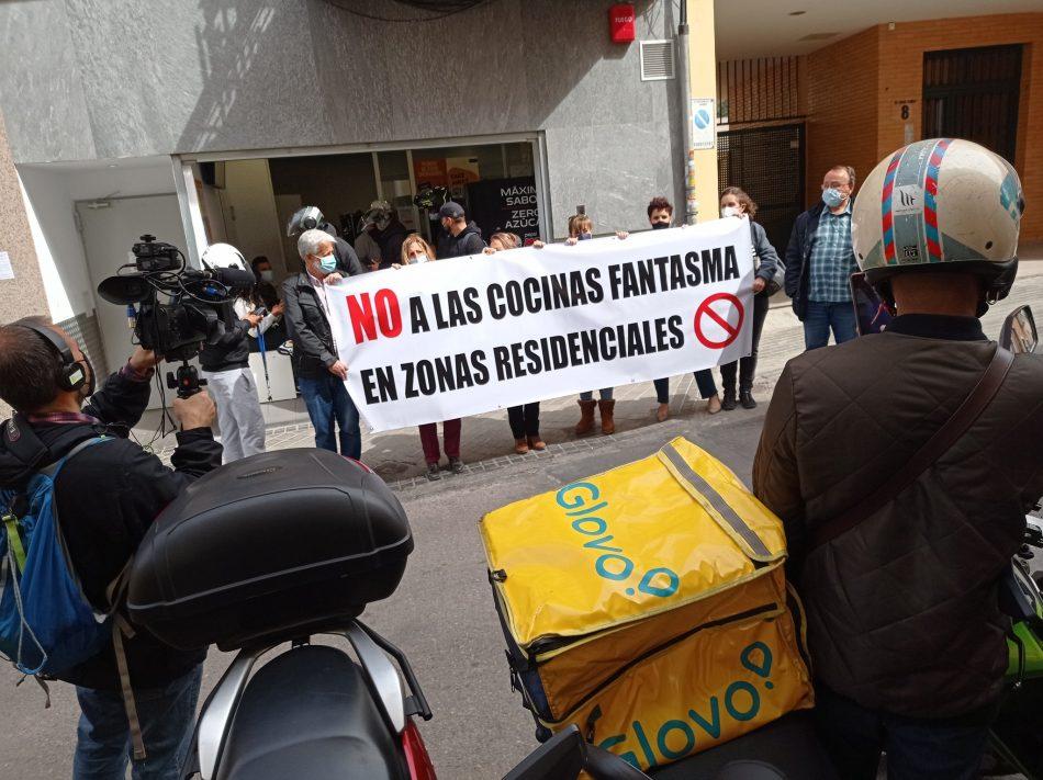 El Ayuntamiento de Madrid se desentiende del impacto en el entorno de las cocinas fantasma de la calle Alejandro Ferrant (Arganzuela)
