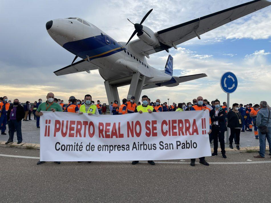 Adelante Andalucía presenta tres iniciativas en el Senado para paralizar el cierre de Airbus en Puerto Real