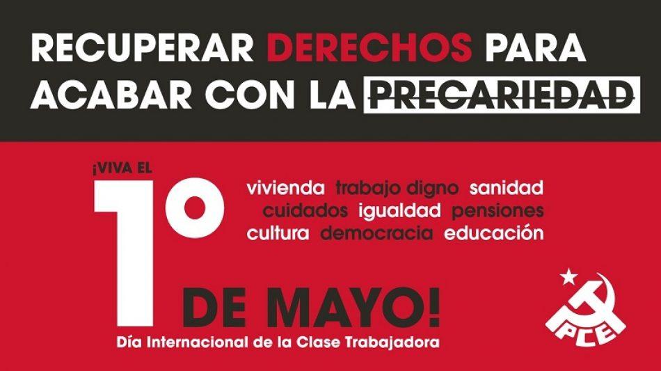 """Isabel Maroto, PCE, ante el 1 de Mayo """"Hay que transformar los aplausos en derechos y las promesas en empleo"""""""