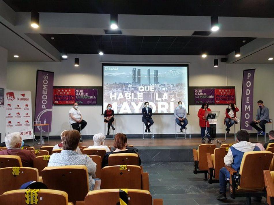 IU Madrid presenta sus líneas programáticas para las elecciones autonómicas del 4 de mayo