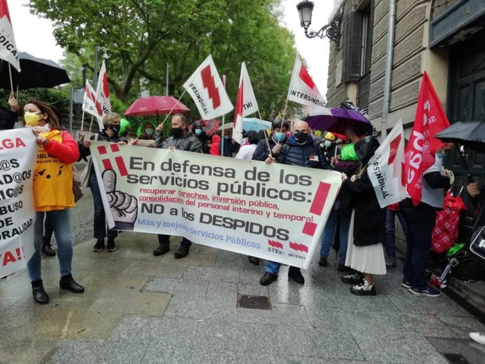 Movilizaciones en varias ciudades reivindicaron hoy la dignidad y consolidación del personal interino y laboral temporal