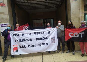 La CGT se manifiesta frente a la sede del PSOE en Murcia