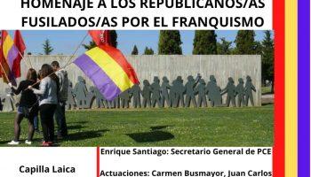 Acto de homenaje a las y los fusilados por el franquismo en León
